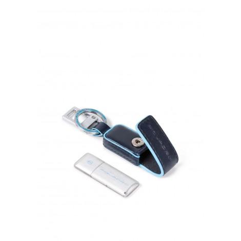 Portachiavi in pelle con chiavetta USB da 16GB